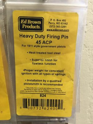 ED BROWN HEAVY DUTY FIRING PIN 1911 ACADEMY FOR SALE