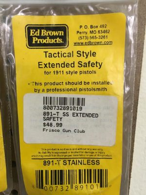 ED BROWN TACTICAL EXTENDED SAFETY 1911 ACADEMY FOR SALE