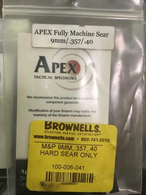 APEX FULLY MACHINED SEAR 9MM 357 40