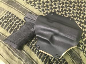 Custom kydex only glock 17 holster