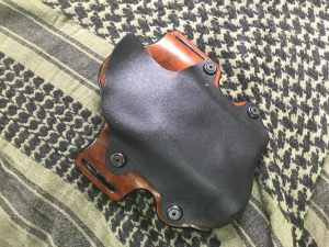 Custom leather lined kydex holster